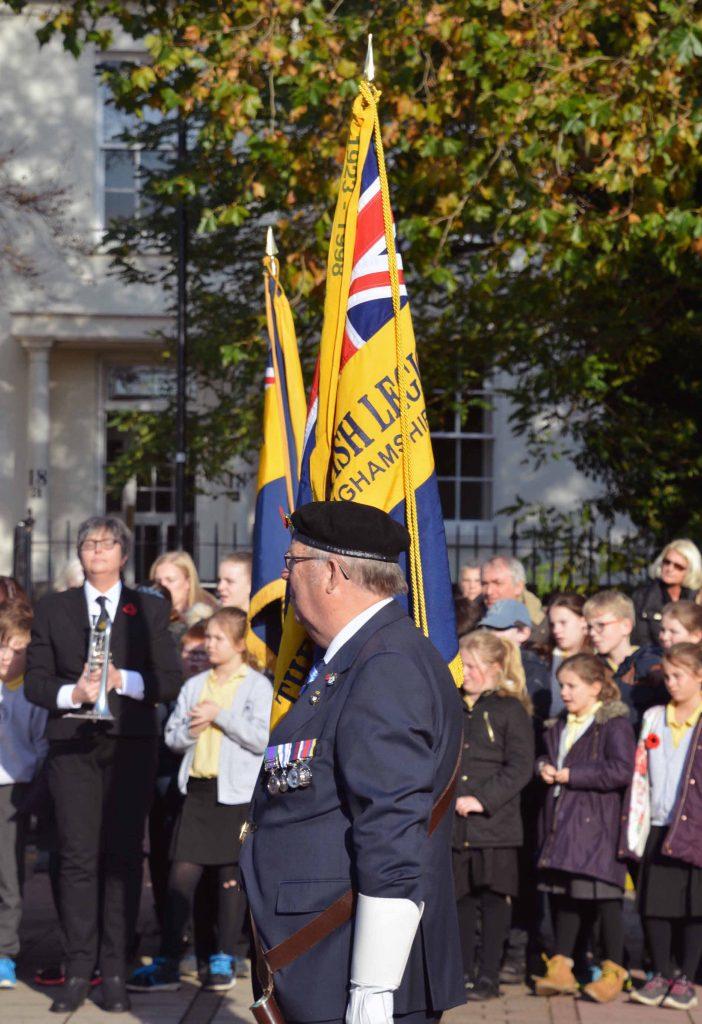 Royal British legion standard bearer